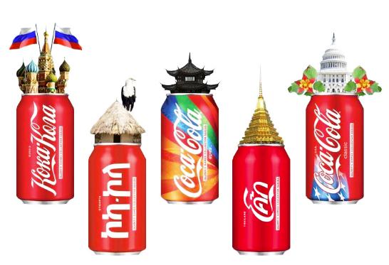 Мультиязычная упаковка Koka-Kola
